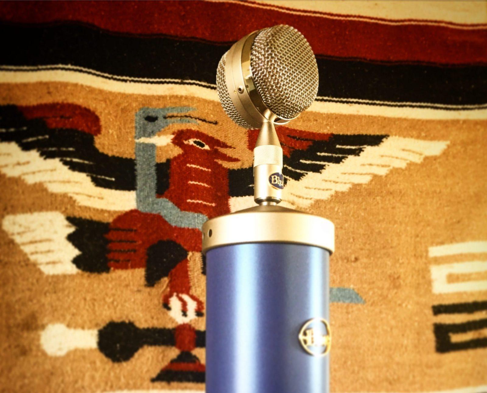 Blue Bottle Tube Microphone At TwoCat Studios In Tucson