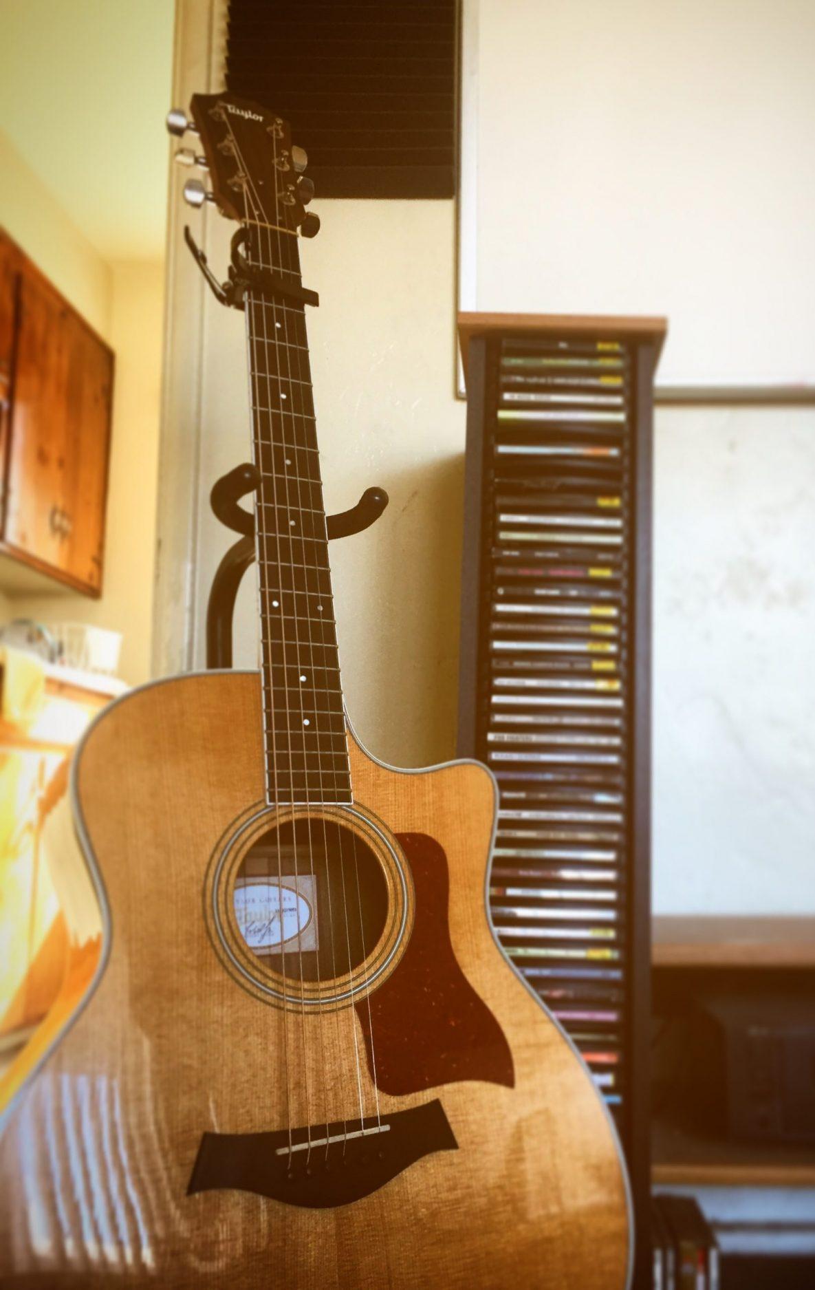 Taylor Guitar At TwoCat Studios In Tucson